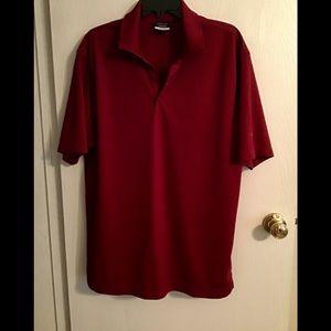 Nike golf shirt men's wine color size L dri-fit